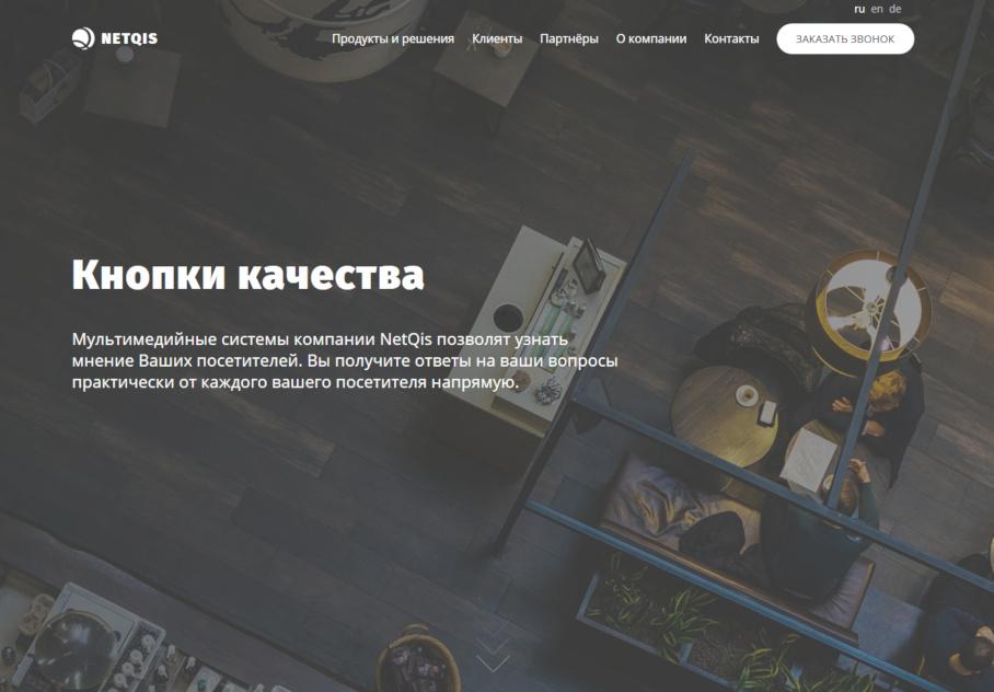 NetQIS UI Kit пример страницы